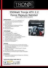 550watt Tronje ATX 2.2 Force Majeure Netzteil