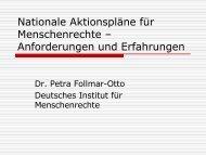 Nationale Aktionspläne für Menschenrechte – Anforderungen und ...