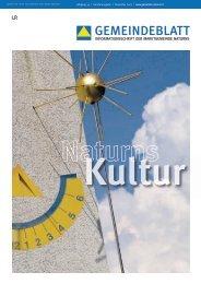 Gemeindeblatt | Sonderausgabe - Kultur (.pdf | 3,29 MB) (0