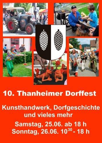 10. Thanheimer Dorffest - Gemeinde Bisingen