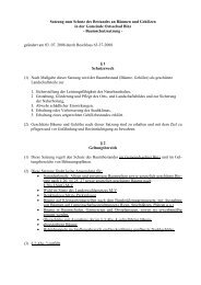 24 Baumschutzsatzung - Gemeinde Binz