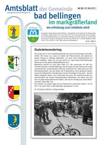 Gutedelwandertag - Gemeinde Bad Bellingen