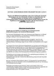 Ausschreibungstext - Gemeinde Westerkappeln