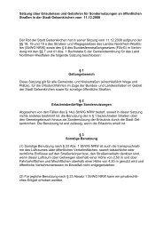 Satzung über Erlaubnisse und Gebühren für Sondernutzungen an ...