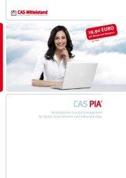 Broschüre - CAS PIA