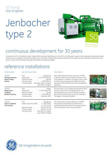 Type 2 Gas Engine Brochure (English Version) / PDF ... - GE Energy