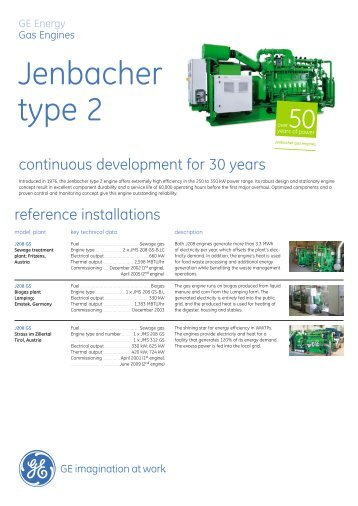 Type 2 Gas Engine Brochure (English Version) / PDF ... - GE Energy