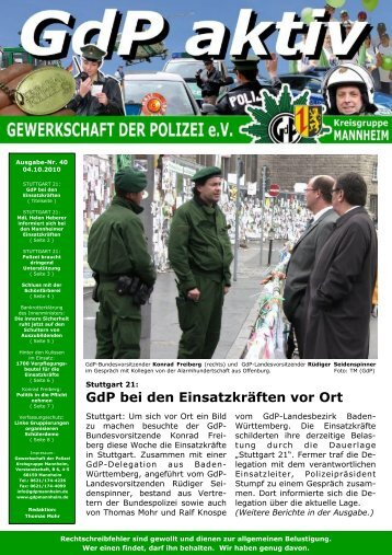 Publisher GdP aktiv 2010-10-04 - GdP Mannheim