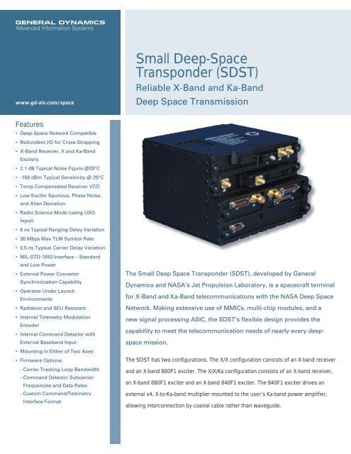 Small Deep-Space Transponder - General Dynamics Advanced