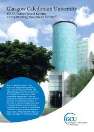 Tier 4 Briefing Document for Staff - Glasgow Caledonian University