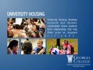 University Housing Orientation Presentation for Students - Georgia ...
