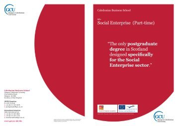 Social Enterprise - Glasgow Caledonian University