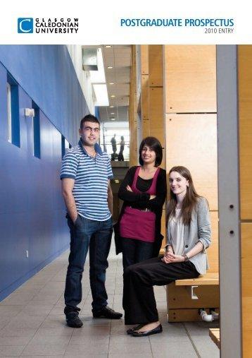 Postgraduate Prospectus 2010: Glasgow Caledonian University