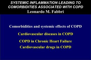 Prevalence of COPD - GOLD