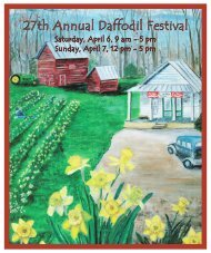 Printable 2013 Daffodil Festival Program - Gloucester County Virginia