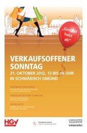 Lange Einkaufsnacht 19.10.2012 - Schwäbische Post