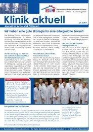 Klinik aktuell 01.2007 - Gemeinschaftskrankenhaus Bonn gGmbH