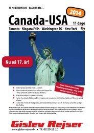 Canada-USA - Gislev Rejser