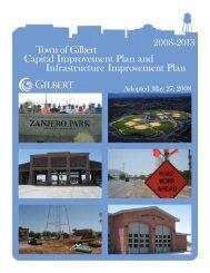 2008 – 2013 Capital Improvement Plan - Town of Gilbert