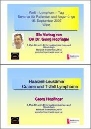 Haarzell-Leukämie Cutane und T-Zell Lymphome