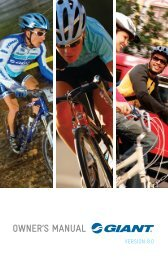 AND CONGRATULATIONS - Giant Bicycles