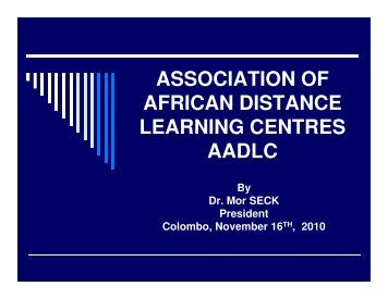association of african distance learning centres aadlc