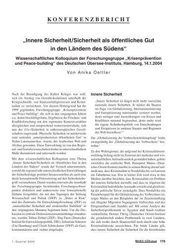 KONFERENZBERICHT - GIGA German Institute of Global and Area ...