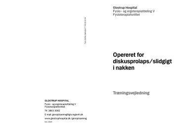 Operation for stenose diskusprolaps i nakken.