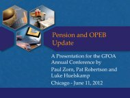 Pension and OPEB Update - Government Finance Officers Association