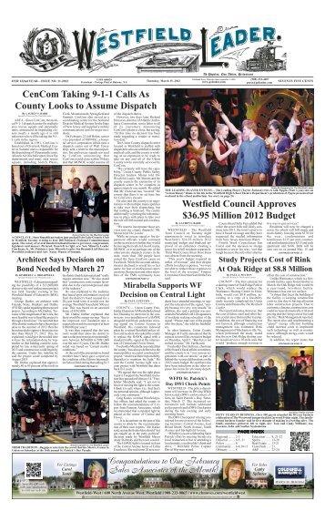 12mar15 newspaper - The Westfield Leader