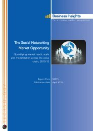 The Social Networking Market Opportunity - Business Insights