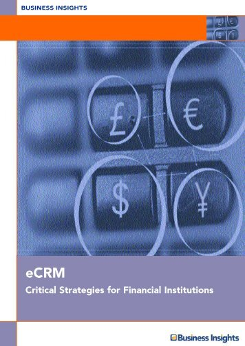 eCRM: Critical Strategies for Financial Institutions - Business Insights