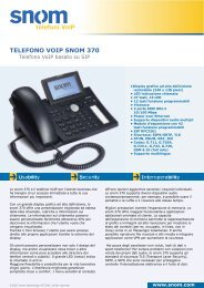 TELEFONO VOIP SNOM 370 telefoni - Voice@work