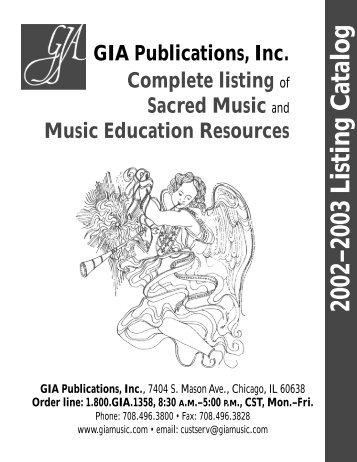 2002?2003 Listing Catalog - GIA Publications