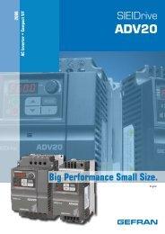 SIEIDrive Big Performance Small Size. - gefran.cz