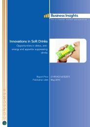 Innovations in Soft Drinks - Business Insights
