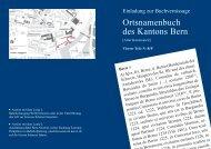 Ortsnamenbuch des Kantons Bern - Institut für Germanistik ...