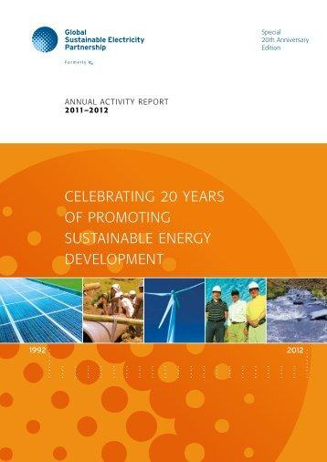 Celebrating 20 Years of Promoting Sustainable Energy Development