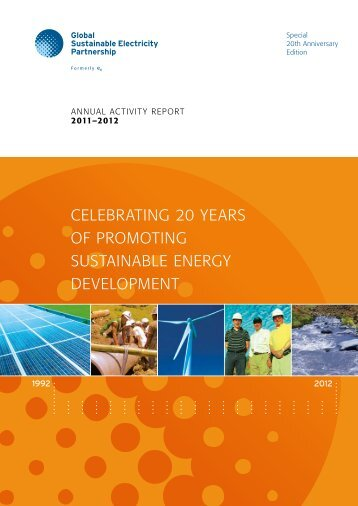 Celebrating 20 Years of Promoting Sustainable Energy Development