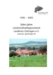 Tätigkeitsbericht 10 Jahre LPV - Galerie Göttinger Land
