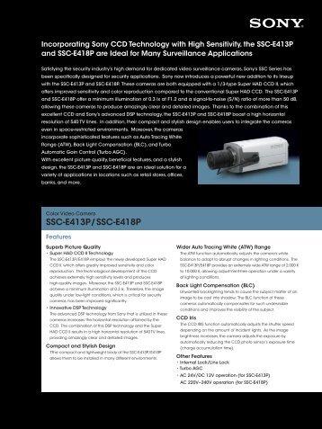 SSC-E413P/SSC-E418P - goCCTV