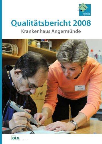 Qualitätsbericht 2008 - GLG Gesellschaft für Leben und Gesundheit ...