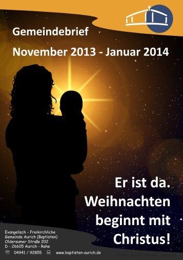 Gemeindebrief November 2013 bis Januar 2014