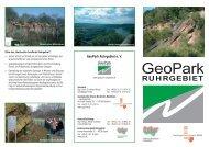 Flyer GeoPark Ruhrgebiet - Geologischer Dienst NRW