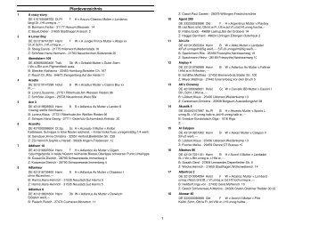 Pferdeverzeichnis 1 - Cuxland-Data Turnierservice