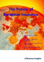The Future of European Insurance - Business Insights