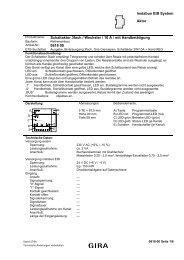 instabus EIB System Aktor Schaltaktor 3fach / Wechsler / 10 A ... - Gira