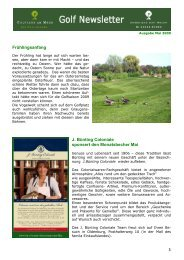 Newsletter Mai 2009 - Golfclub am Meer