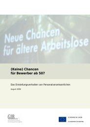 (Keine) Chancen für Bewerber ab 50? Das ... - GIB NRW