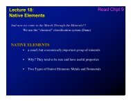 Lecture 18: Native Elements Read Chpt 9